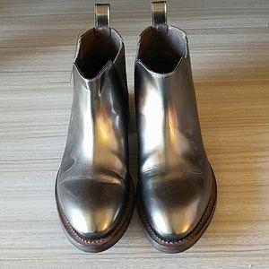 Brunello Cucinelli Metallic Ankle Boots - Sz 37EU
